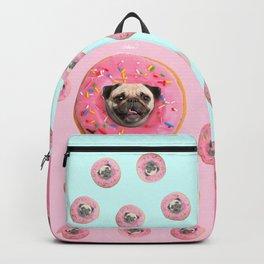 Pug Strawberry Donut Backpack