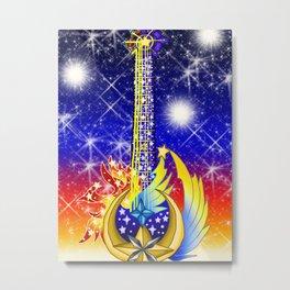 Fusion Keyblade Guitar #7 - Star Seeker & Eternal Flame Metal Print