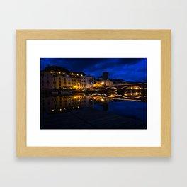 Bosa by night Framed Art Print