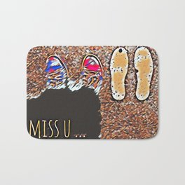 Miss You - Colorful Mosaic Bath Mat