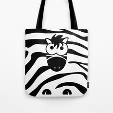 Minimal Zebra Tote Bag