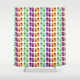 Color pops in Watercolor Shower Curtain