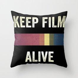 Keep Film Alive Throw Pillow