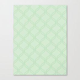 Double Helix - Light Greens #769 Canvas Print