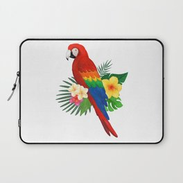 Tropical Macaw Floral Watercolor Laptop Sleeve