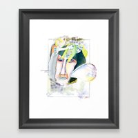 The businessman Framed Art Print