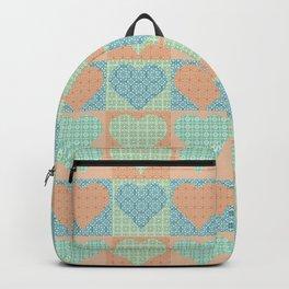 Valentines on Squares Patchwork Backpack