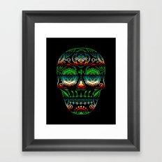 Deco Sugar Skull 4 Framed Art Print