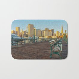 Pier 7- painting Bath Mat