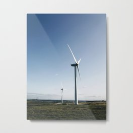 wind turbine in derbyshire Metal Print