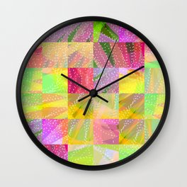 Colorful Summer Party Fun Time Wall Clock