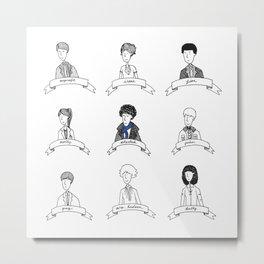 Sherlock Character Sketches Metal Print