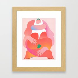 Can't Control The Heat Framed Art Print