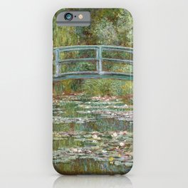 Claude Monet - Bridge over a Pond of Water Lilies.jpg iPhone Case