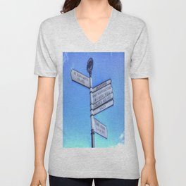 Edinburgh Castle Directions Post Unisex V-Neck