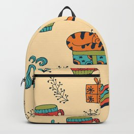Happy New Year at Home Pattern Backpack