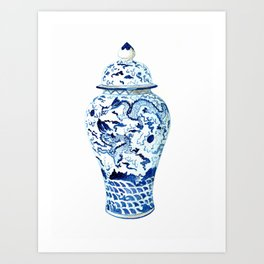 GINGER JAR NO 7  Art Print