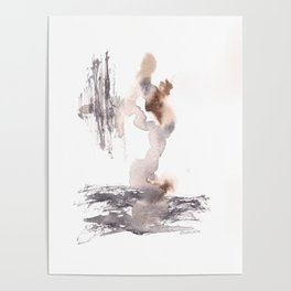 The World Awaits - 151124  Abstract Watercolour Poster