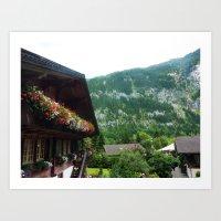 switzerland Art Prints featuring Switzerland by ainslieeee