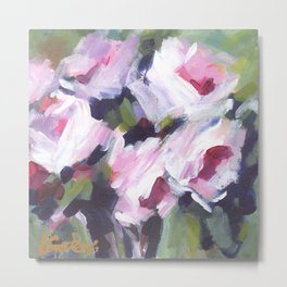 White Rose Bouquet Metal Print