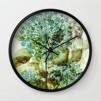 dandelion Wall Clocks featuring dandelion by clemm