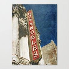1931 Los Angeles Theatre Vintage Sign Canvas Print