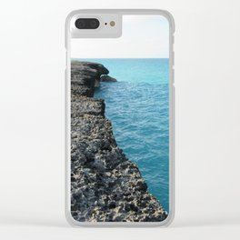 Lost in the Ocean Clear iPhone Case