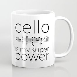 Is cello your super power? (white) Coffee Mug
