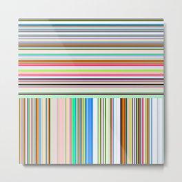 Re-Created  Lines & Stripes 1 by Robert S. Lee Metal Print