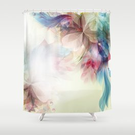 Lavish Abstract Landscape Shower Curtain