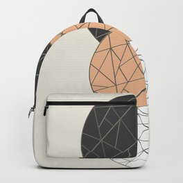 TRIAD ON BEIGE (abstract circles) Backpack