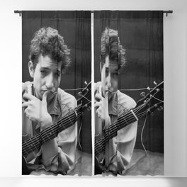 Bob Dylan Young Black and white Retro Silk Poster Frameless Blackout Curtain