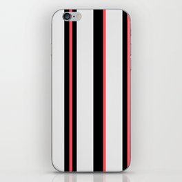 White black and pink lines iPhone Skin