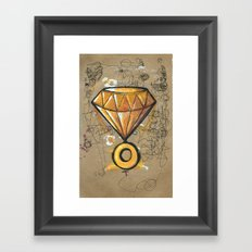Chaos Emerald Framed Art Print