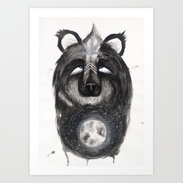 Selene the Moon Bear. Art Print