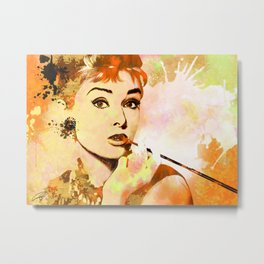 Audrey Hepbrun Hollywood Classics Metal Print