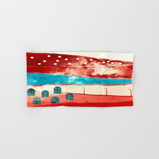 Red landscape Hand & Bath Towel