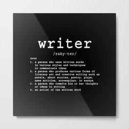 Definition of a Writer Metal Print
