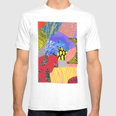 Colors & Shapes Mens Fitted Tee White MEDIUM
