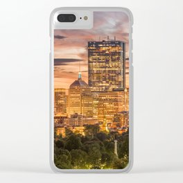 Boston Art Print Clear iPhone Case