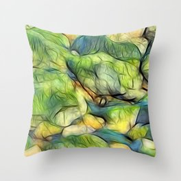 Stranded Weed Throw Pillow