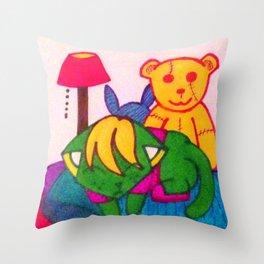 Kawaii Kitten Nap Time Throw Pillow
