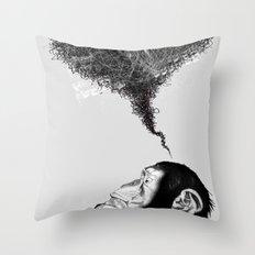Chimpistotle Throw Pillow