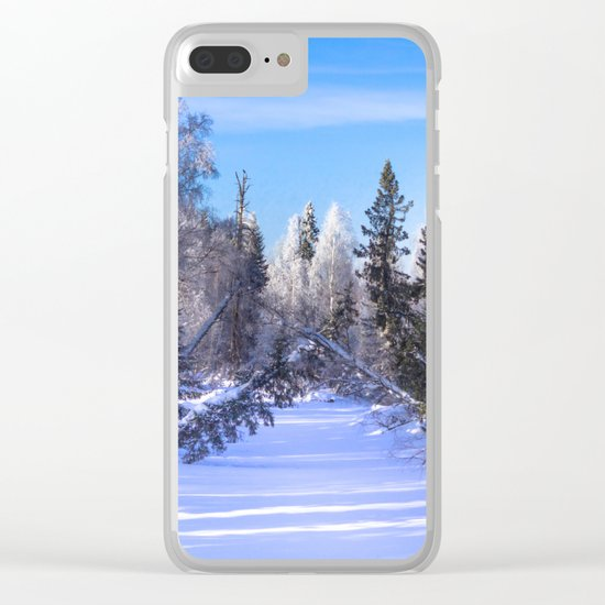 Frozen river Clear iPhone Case