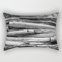 Hand Cut Lumber From Dismantled Log Barn 1 Rectangular Pillow