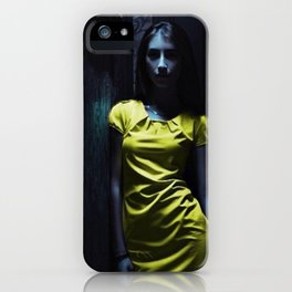 Girl in Yellow iPhone Case