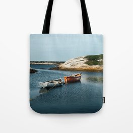 Two Boats Tote Bag