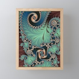AZURE - Fractal Art Design  Framed Mini Art Print