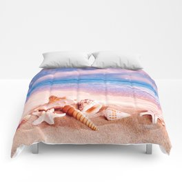 On the beach Comforters
