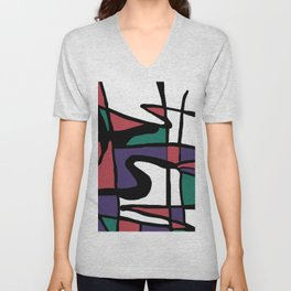 Abstract Painting Design - 5 Unisex V-Neck